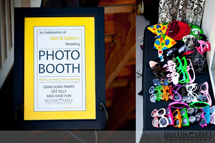 Utah Photo Booth Rental Wedding Reception Props