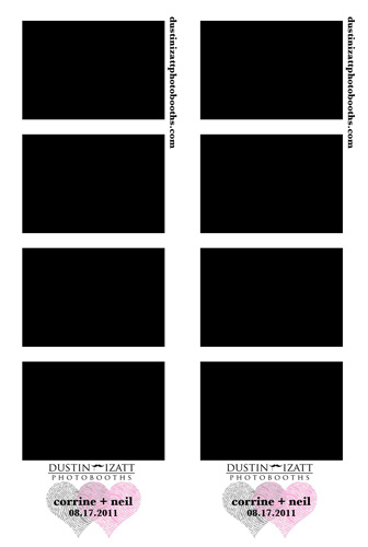 photo booth strip designs dustin izatt photo booths rentals for utah weddings and events. Black Bedroom Furniture Sets. Home Design Ideas