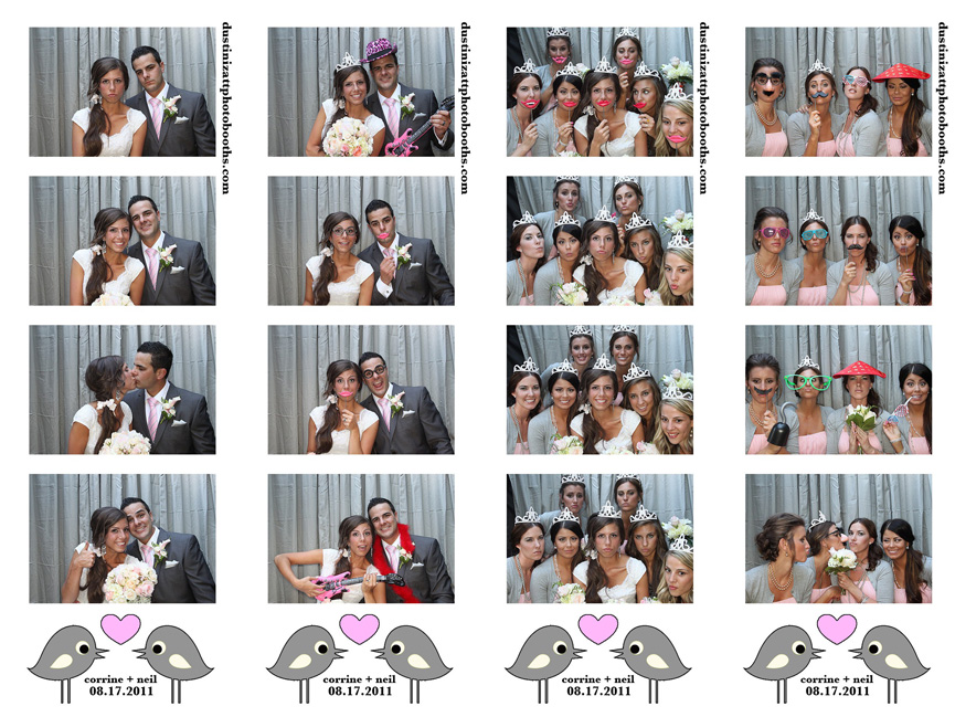 corrine and neil utah wedding photo booth rental