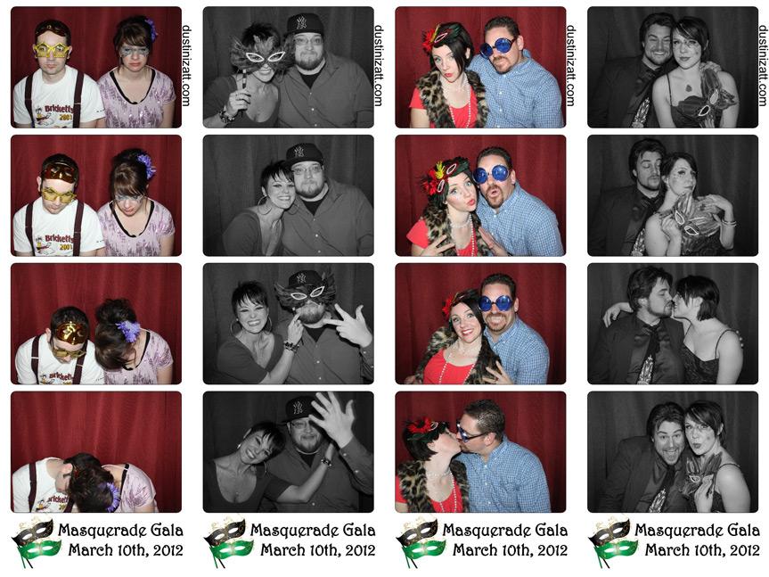 Utah Photo Booth Rental Masquerade Party
