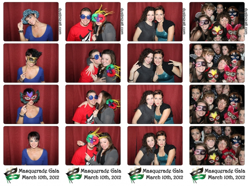 Utah Photo Booth Rental Masquerade Party