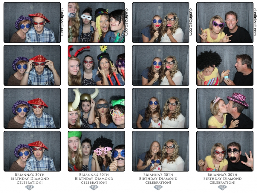 Salt Lake City Surprise Birthday Party Photo Booth Rental by Dustin Izatt Photo Booths
