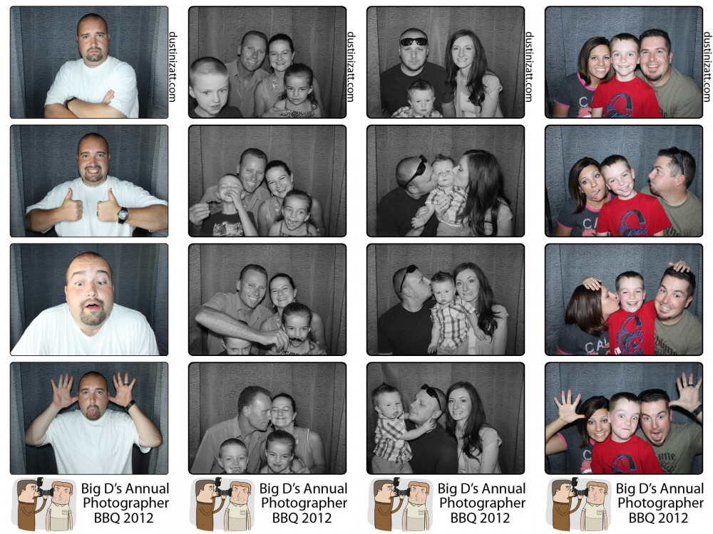 Summer BBQ Utah Photo Booth Rental by Dustin Izatt Photo Booths