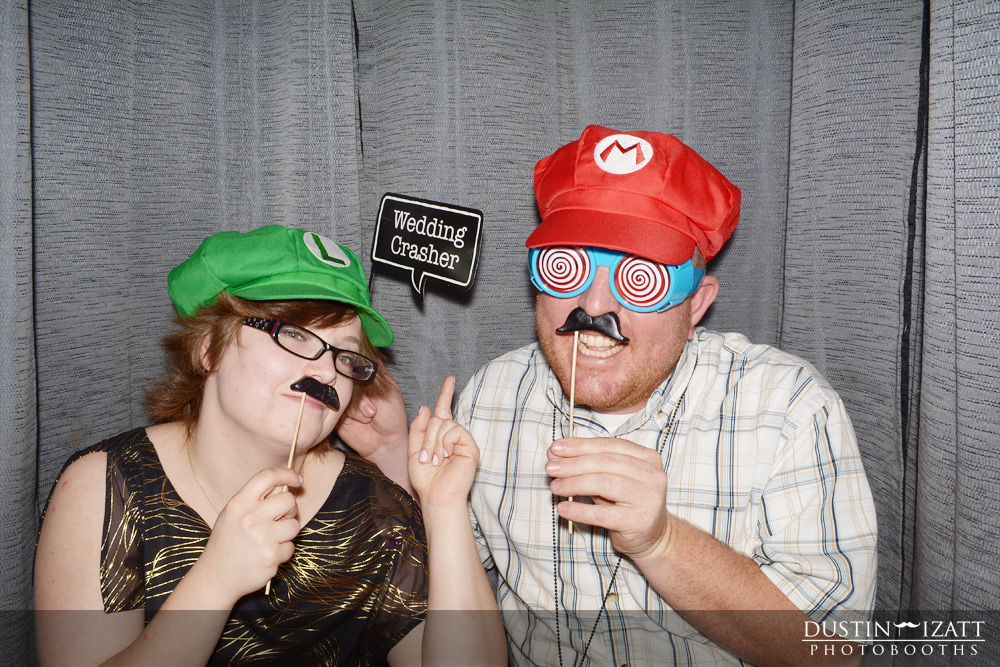Bountiful utah photo booth rental wedding mario luigi