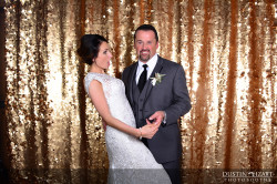 Utah Wedding Photo Booth Rental Gold Backdrop Props