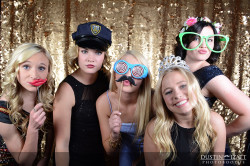 Utah Photo Booth Rental High School Gold Backdrop
